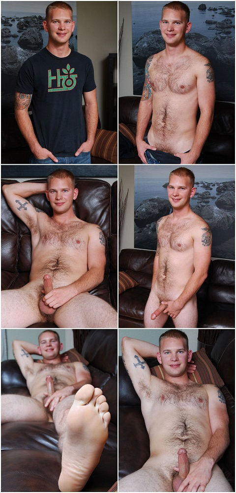 Hairy Texan Dude Grant's Big Cum Burst