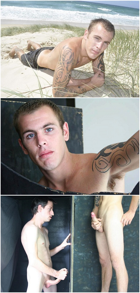 Gloryhole Scene With Uncut Aussie Jock Mark