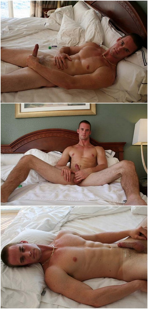 Horny Hunk Jason's Early Morning Wank Off
