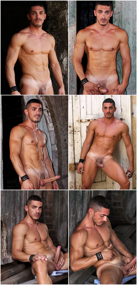 Ripped Italian Alessandro Wanks His Long Wand