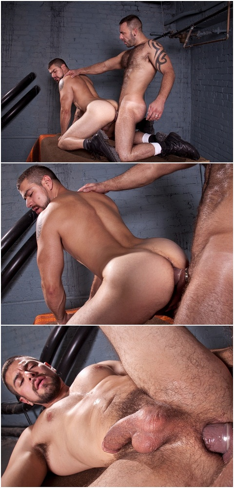 Tattooed Daddy Bruno Satisfies Dominic's Hole
