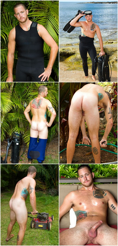 Big Beefy Eric Jerks Off Outdoor