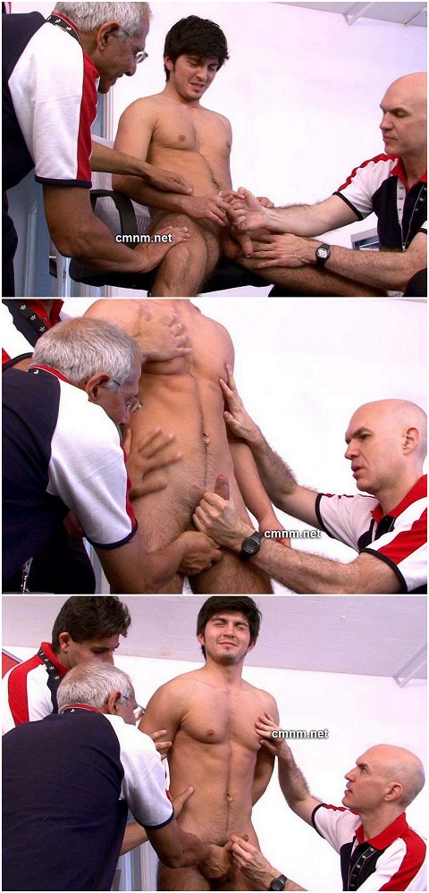 Macho Athlete Gian Gets His Balls Drained